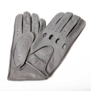 autohandschoenen heren frosted grey lamsleer hele vingers Economy Line Premium