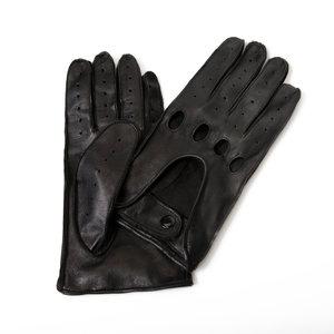 autohandschoenen heren zwart lamsleer met hele vingers Economy Line Premium